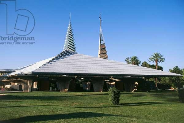 First Christian Church, 1973, design by Frank Lloyd Wright (1867-1959), Phoenix, Arizona, United States of America