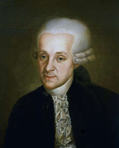 Portrait of Leopold Mozart (Augusta, 1719-Salzburg, 1787), Austrian composer and violinist, father of Wolfgang Amadeus Mozart and Maria Anna Mozart