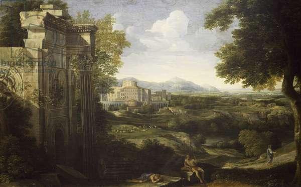 Italian landscape with ruins, 1667-1668, by Gaspard Dughet (1615-1675)