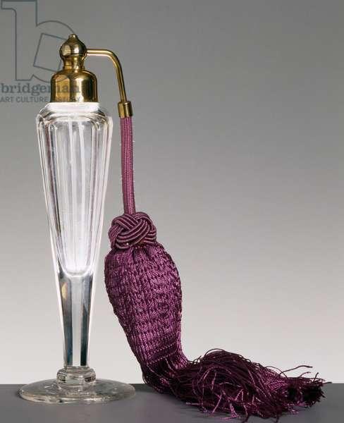 Crystal-cut glass perfume spray bottle, 1915-1920, France, 20th century