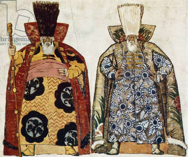 Costume Designs for Khovanshchina, by Modest Petrovich Mussorgsky (1839-1881), 1913