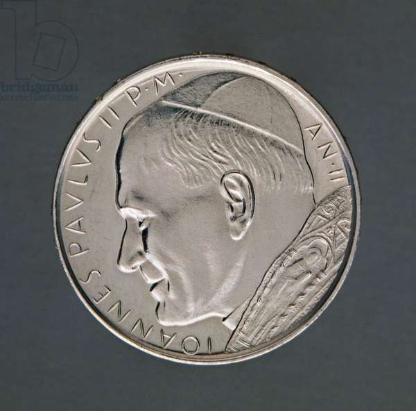 500 lire coin of Pope John Paul II (1978-2005), 1980, obverse, Vatican City, 20th century