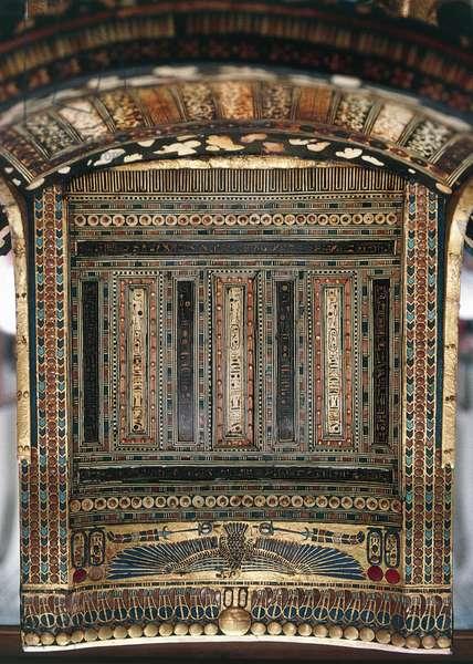 Ceremonial throne, from Tomb of Tutankhamun, Egyptian civilization, 18th Dynasty