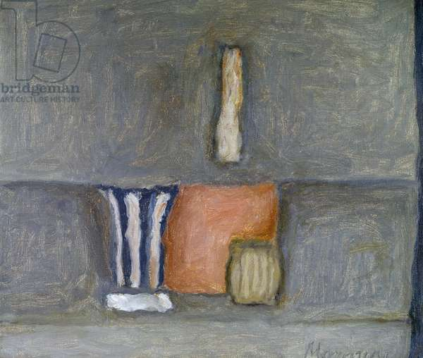 Still life, 1960, by Giorgio Morandi (1890-1964), Italy, 20th century.