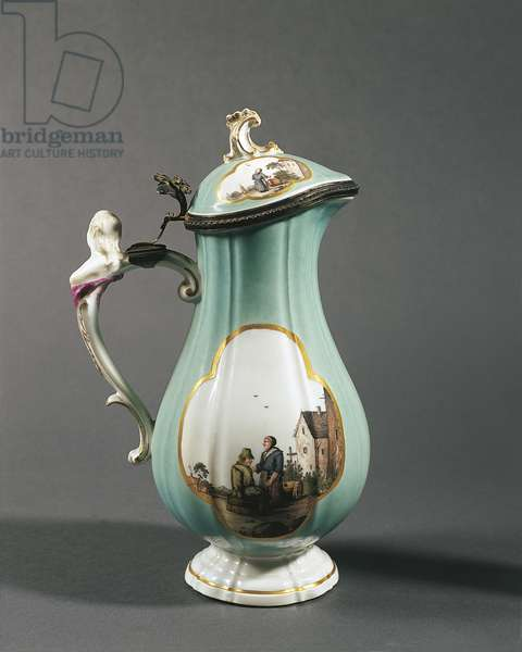 Coffeepot with female bust handle