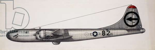 Boeing B-29 Superfortress bomber, 1944, USA, drawing