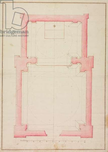 Design for Oratory of Blessed Virgin of Caravaggio, Campallo, Perledo, parish of Perledo, 27 May 1740, Italy, 18th century