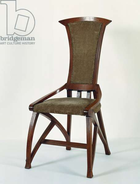 Art Nouveau style chair, 1898, designed by Henry van de Velde (1863-1957), Belgium, 19th century