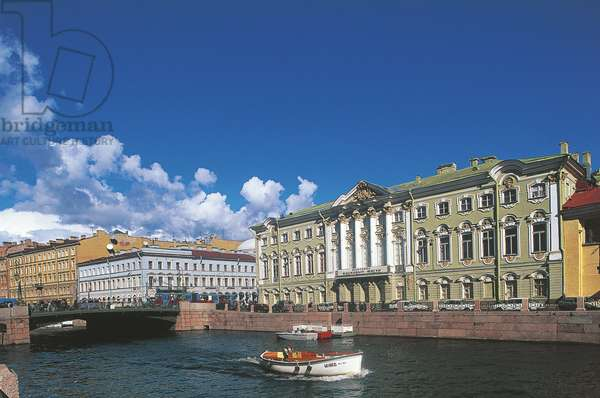 Russia, Saint Petersburg, Nevsky Prospekt, Stroganov Palace, designed by architect Bartolomeo Francesco Rastrelli (1700-1771)