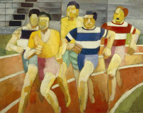 The Runners, c.1924 (oil on canvas)