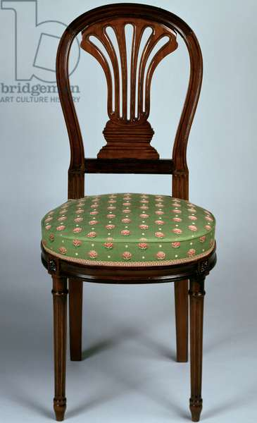 Louis XV style Second Empire (Napoleon III) Cuban mahogany chair, France, second half 19th century