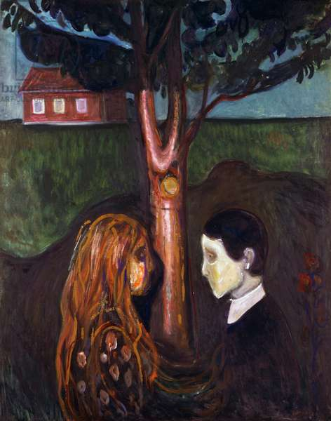 Eyes in eyes, 1894, by Edvard Munch (1863-1944), oil on canvas, 136x110 cm. Norway, 19th century.