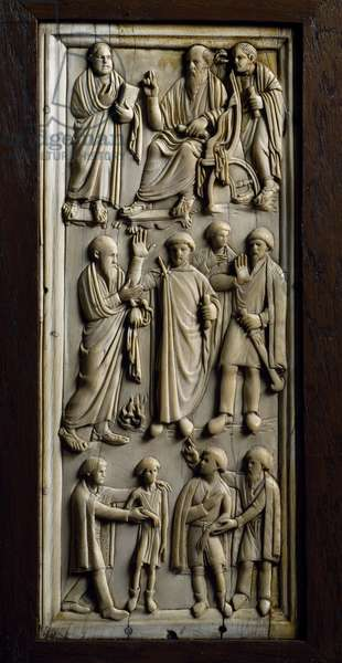 Valve of ivory diptych from Italy, Early Christian period, 1st-6th century