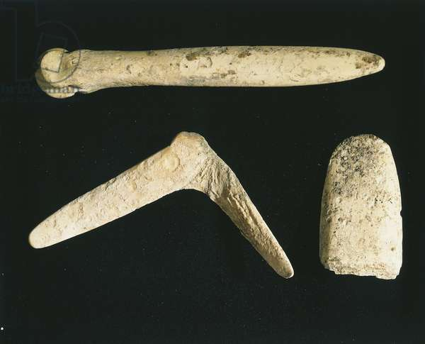 Bone tools from Belvedere Natural Archaeological Park nearby Cetona (province of Siena)