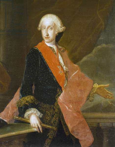 Portrait of Charles IV of Bourbon (Portici, 1748-Rome, 1819), King of Spain, by Anton Raphael Mengs (1728-1779)