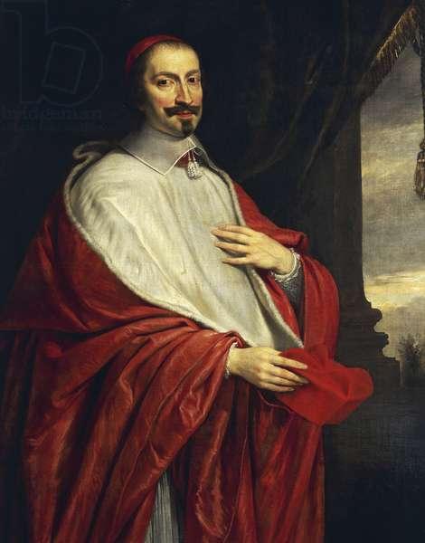 Portrait of Giulio Raimondo Mazzarino (Pescina, 1602-Vincennes, 1661), Italian cardinal, politician and diplomat, by Philippe de Champaigne (1602-1674), oil on canvas