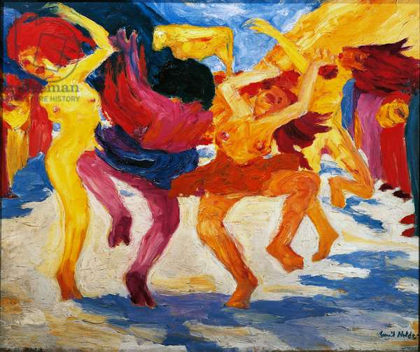 Dance around golden calf, 1910 (oil on canvas)