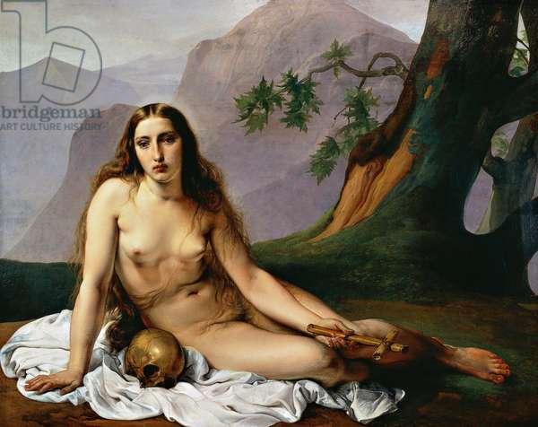 Penitent Magdalene, 1833, by Francesco Hayez (1791-1882), panel, oil on canvas, 118x151 cm