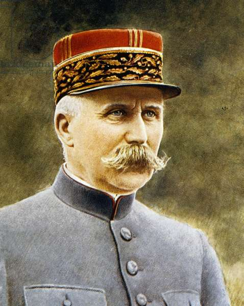 Portrait of Philippe Petain (Cauchy-a-la-Tour, 1856 - L'Ile-d'Yeu, 1951), general, Marshal of France and French politician, military propaganda postcard, France, 20th century