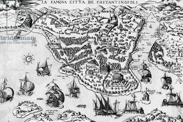 City of Constantinople, engraving, 16th century