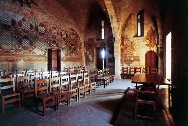 Hall of the slap, Papal palace (or Boniface VIII's palace), 13th century, Anagni, Lazio, Italy