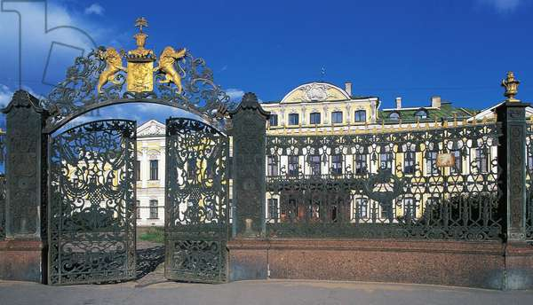 View of palace Sheremetev (18th century), now Museum Anna Akhmatova Andreevna, historic centre of St Petersburg (Unesco World Heritage List, 1990), Northwestern Federal District, Russia
