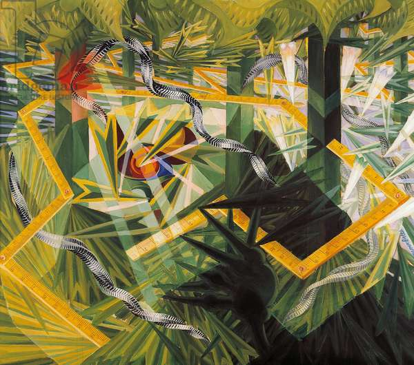 The arrows of life, 1928, by Giacomo Balla (1871-1958), oil on canvas, 99x115 cm. Italy, 20th century.
