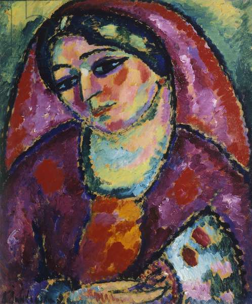 Red Veil, 1912 (oil on cardboard)
