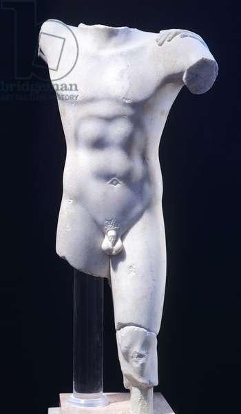 Theseus, statue from the archaic age (Greece). Greek Civilization, 6th Century BC.