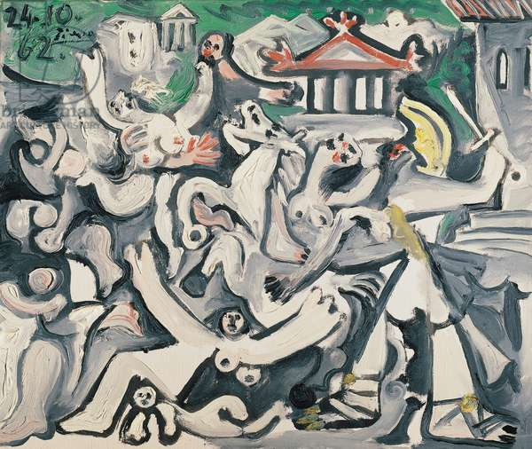 Rape of the Sabine women, 1962, by Pablo Picasso (1881-1973), oil on canvas. Spain, 20th century.