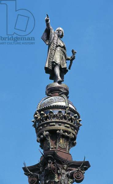 Monument to Christopher Columbus, Barcelona, Catalonia, Spain