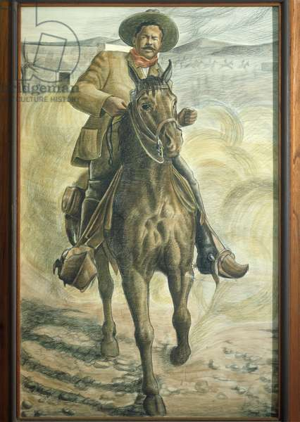 Illustration representing Mexican Revolutionary general Pancho Villa (1878-1923)