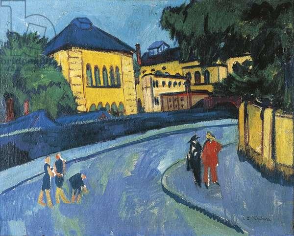 Dresden, Friedrichstadt, 1910 (oil & tempera on canvas)