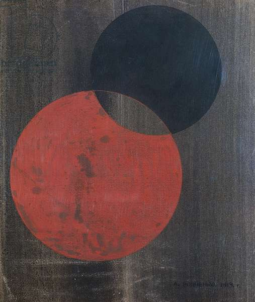 Composition with circles, 1919, by Alexander Rodchenko (1891-1956). Russia, 20th century.