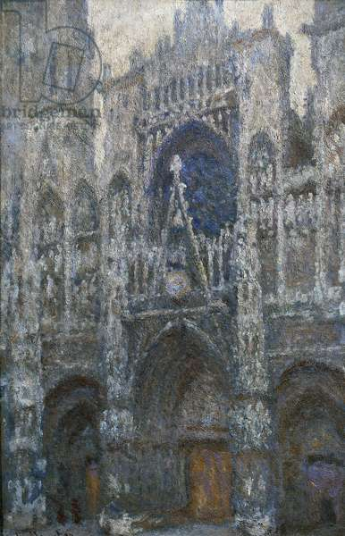 Rouen Cathedral, the portal; grey weather, 1892, by Claude Monet (1840-1926), oil on canvas, 100x65 cm. France, 19th century.