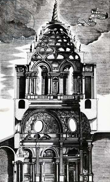 Section of the dome of the chapel of the Holy Shroud, Turin, 17th century