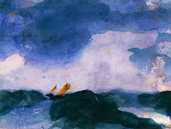 High Tide, 1939, by Emil Nolde (1867-1956), watercolour. Germany, 20th century.