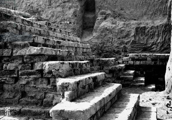 Babylon, steps of lateral staircase, Iraq, 20th century