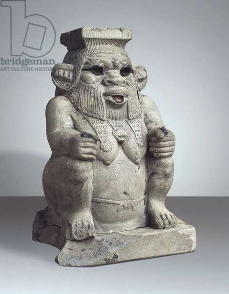 Ancient Egyptian terracotta figurine of god Bes, Late Period, XXX Dynasty