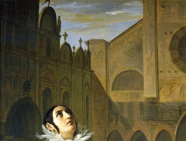 The Murder of Lorenzino de' Medici, by Giuseppe Bezzuoli, detail, 1840