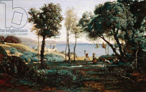 View near Naples, 1841, by Jean-Baptiste Camille Corot (1796-1875), oil on canvas