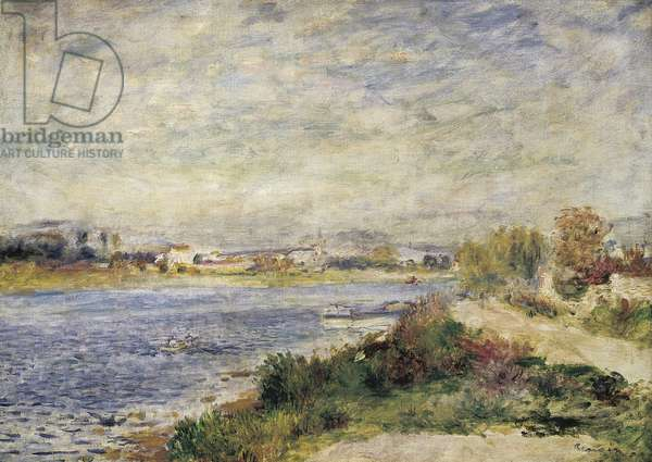 The Seine in Argenteuil, by Pierre-Auguste Renoir, 1873, 1841-1919