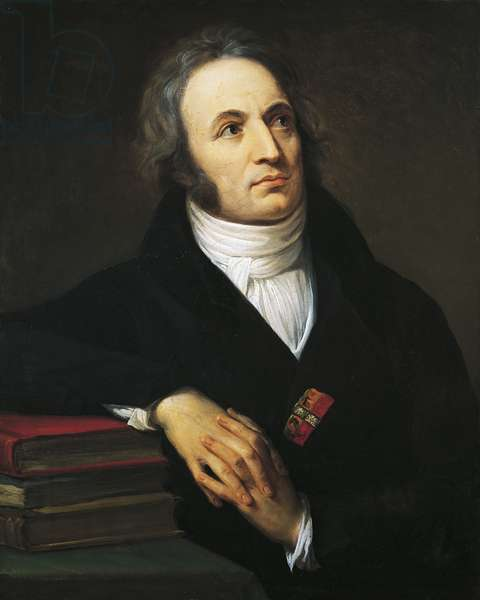 Portrait of Vincenzo Monti (Alford, 1754 - Milan, 1828), Italian poet, writer and playwright, Oil on canvas by Andrea Appiani Elder (1754-1817), 1809