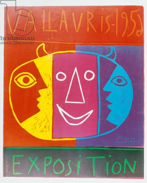 Poster for the ceramic exhibition in Vallauris, 1956, by Pablo Picasso (1881-1973). France, 20th century.