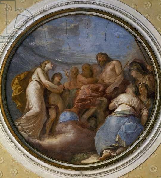 Tondo painted by Andrea Appiani (1754-1817), Villa Reale, Monza, Italy, 18th century