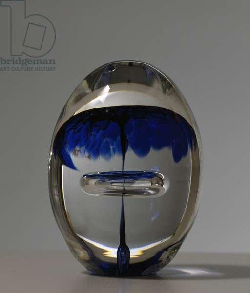 Glass egg, 20th century