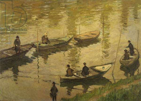 Fishermen on Seine, by Claude Monet (1840-1926)
