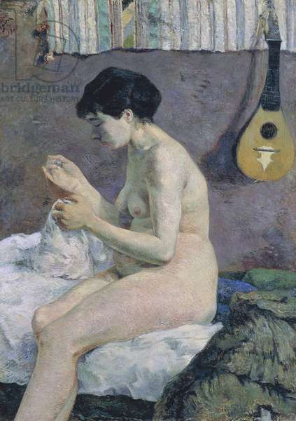 Study of Nude, Suzanne sewing, 1880 (oil on canvas)