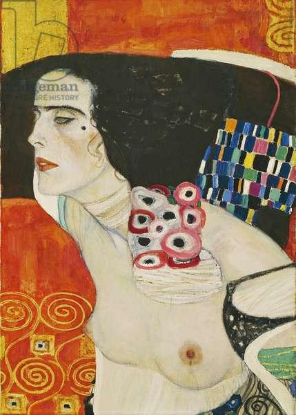 Judith II, 1909, by Gustav Klimt (1862-1918), 178x41 cm, Detail