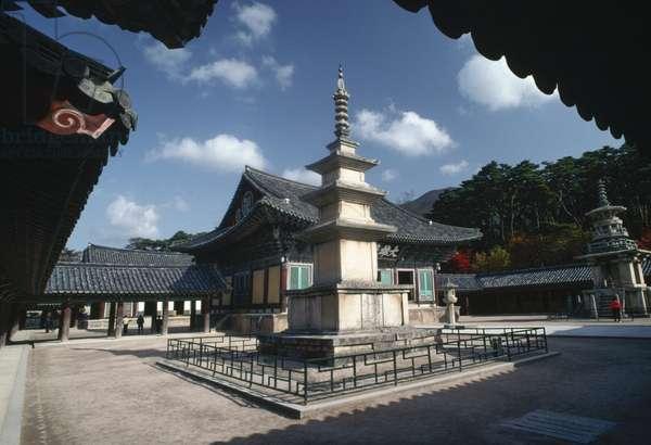 Seokgatap pagoda within Bulguksa Temple complex (UNESCO World Heritage List, 1995), Gyeongju, North Gyeongsang, South Korea